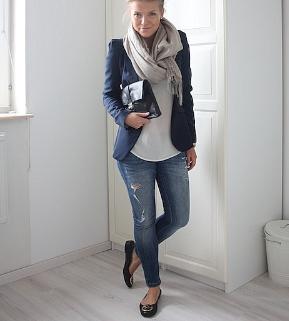 Blue blazer, blue jeans
