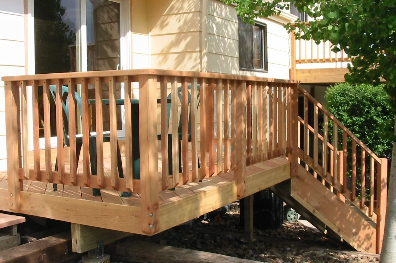 Wood Deck Railing Designs View More Deck Railing Ideas  Http://awoodrailing.com