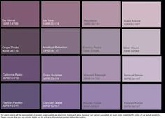 Dulux Paint Chart Purple Google Search Lavender Paint Colors Purple Paint Colors Lavender Paint