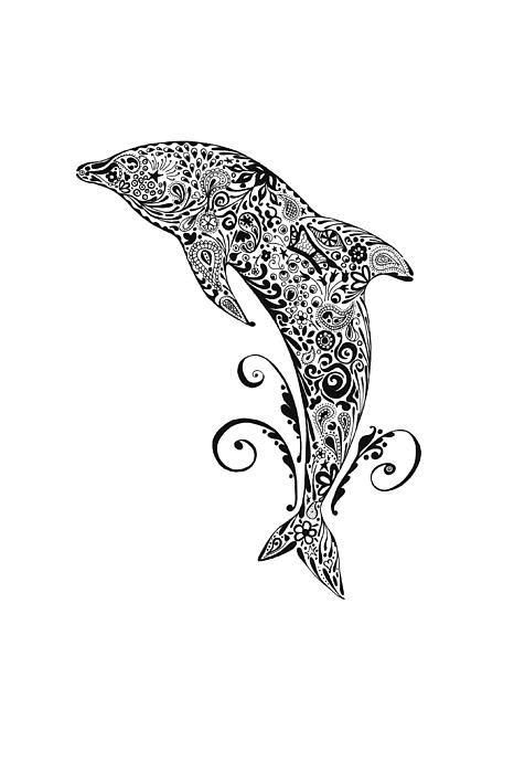 Dolphin Doodle Delfini Tatoo Tatuaggi Maschili
