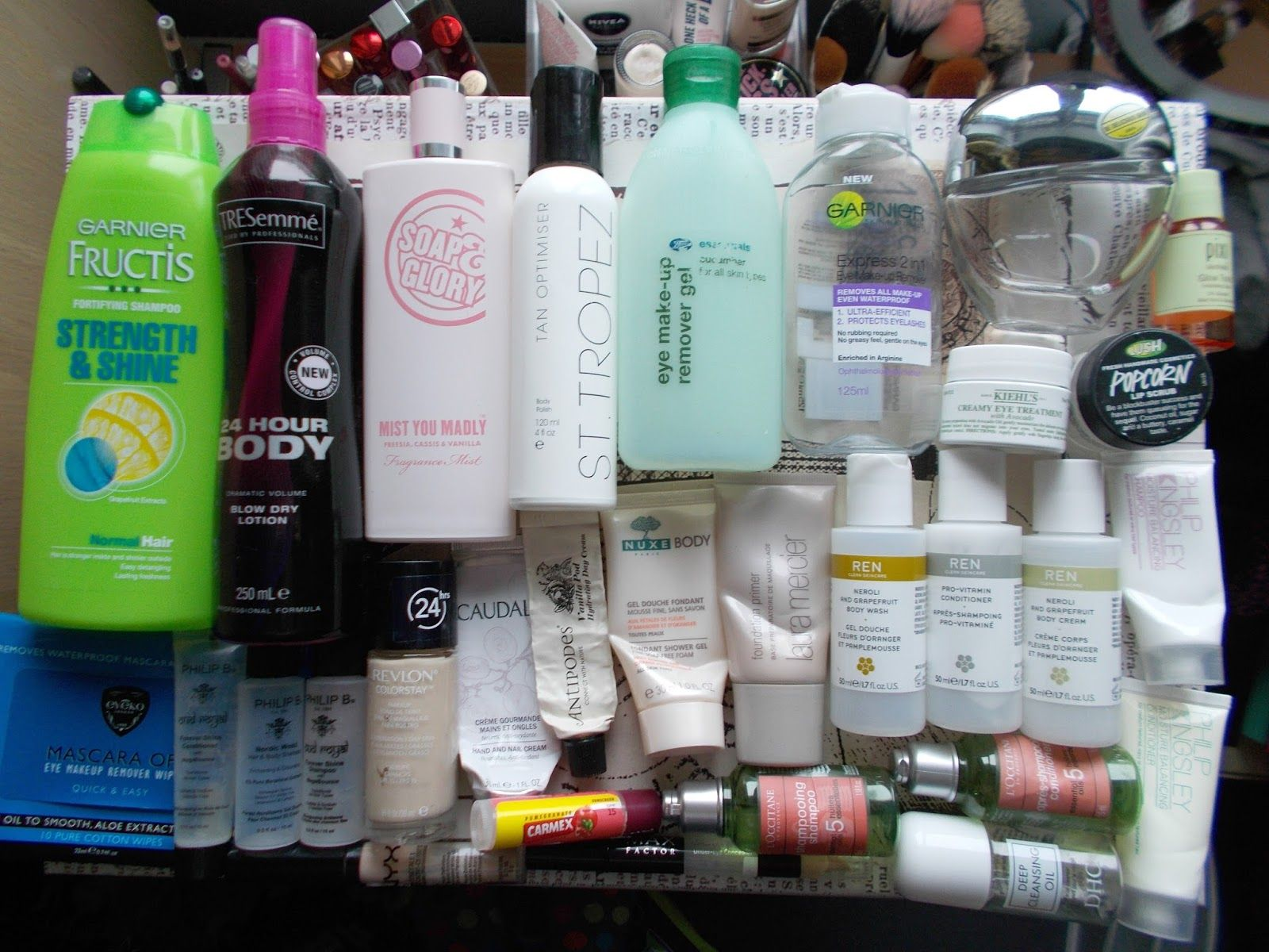 product empties haircare bodycare skincare fragrance