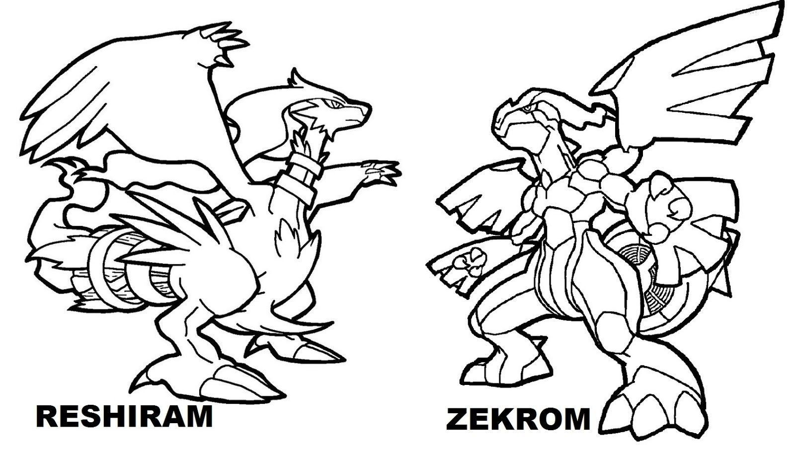 Pokemon Coloring Pages Reshiram Pokemon Coloring Pages Of Zekrom
