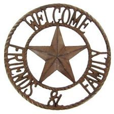 Cast Iron Welcome Friends & Family Sign Rustic cabin barn western ...