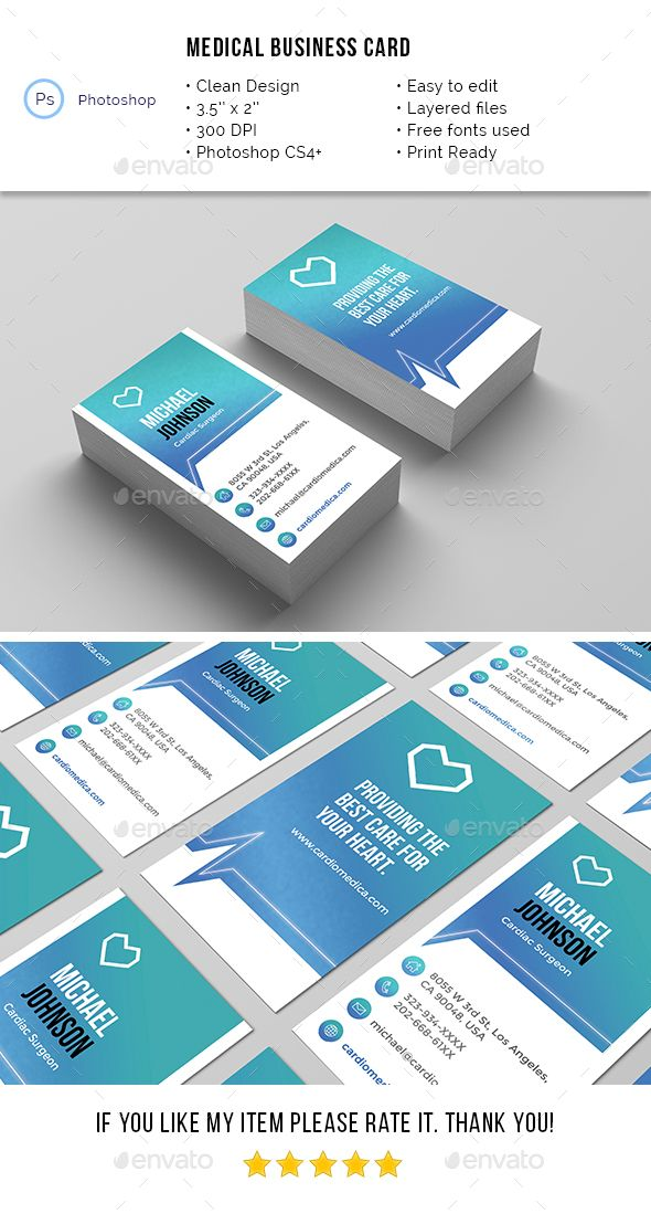 Medical Business Card Business cards, Medical and Business - medical business card templates