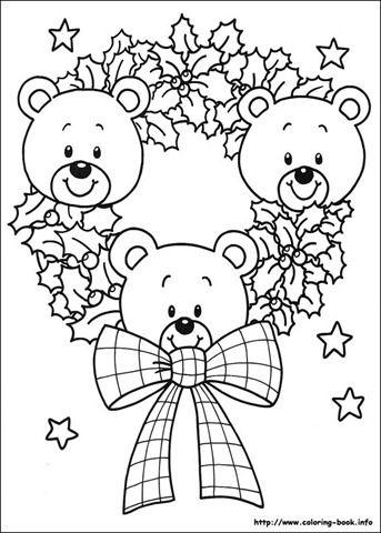 Desenhos De Ursinhos No Natal Para Colorir Natal Colorir
