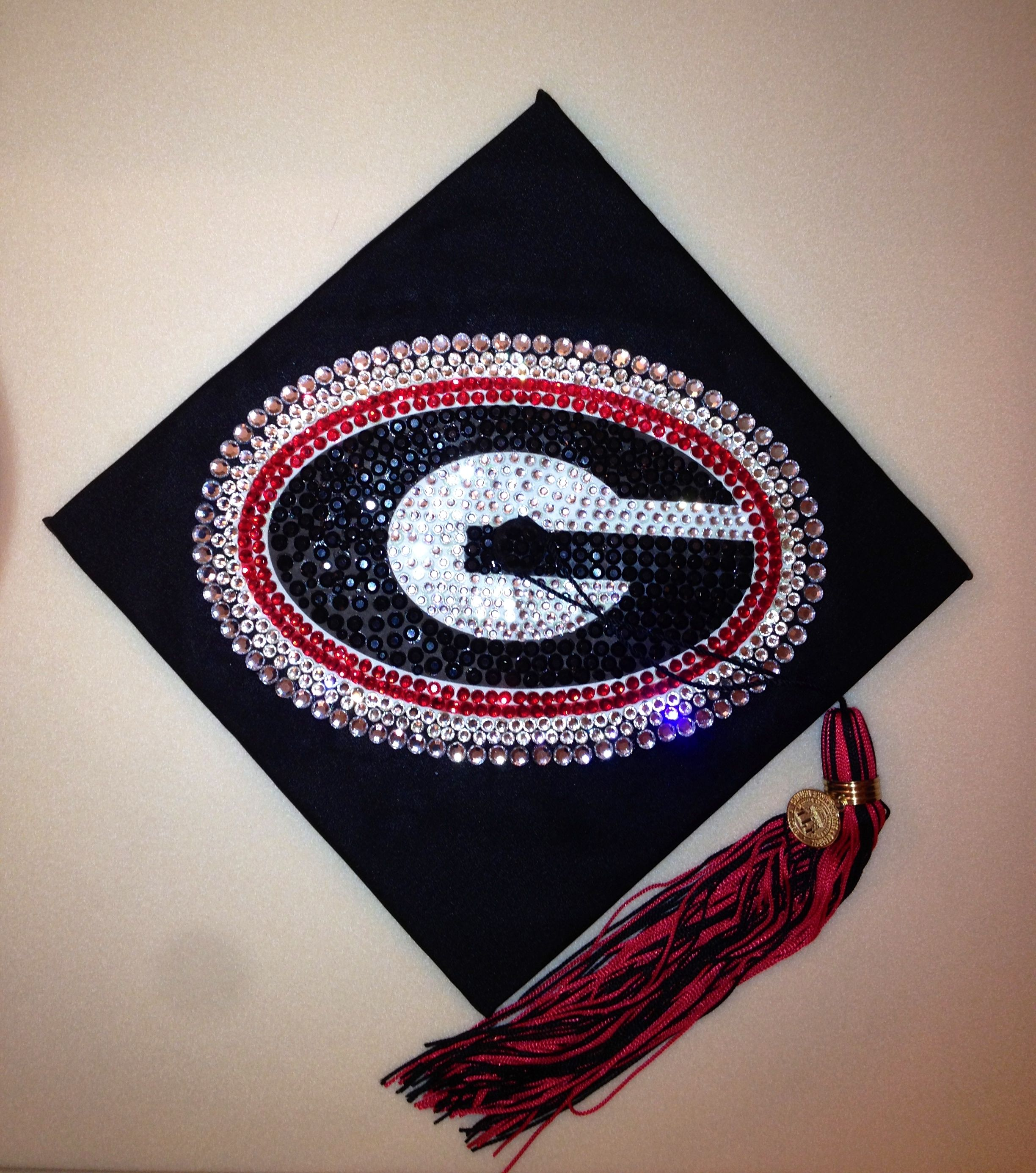 decorated graduation cap for university of georgia - Graduation Caps Decorated