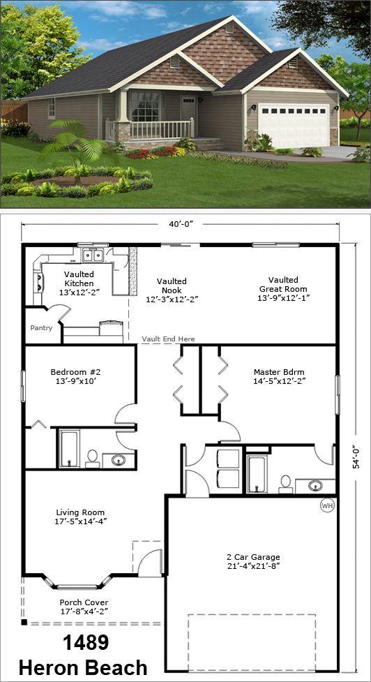 Small Front Verandah Sets Off This Nice Home Craftsman House Plans House Blueprints Cottage Floor Plans