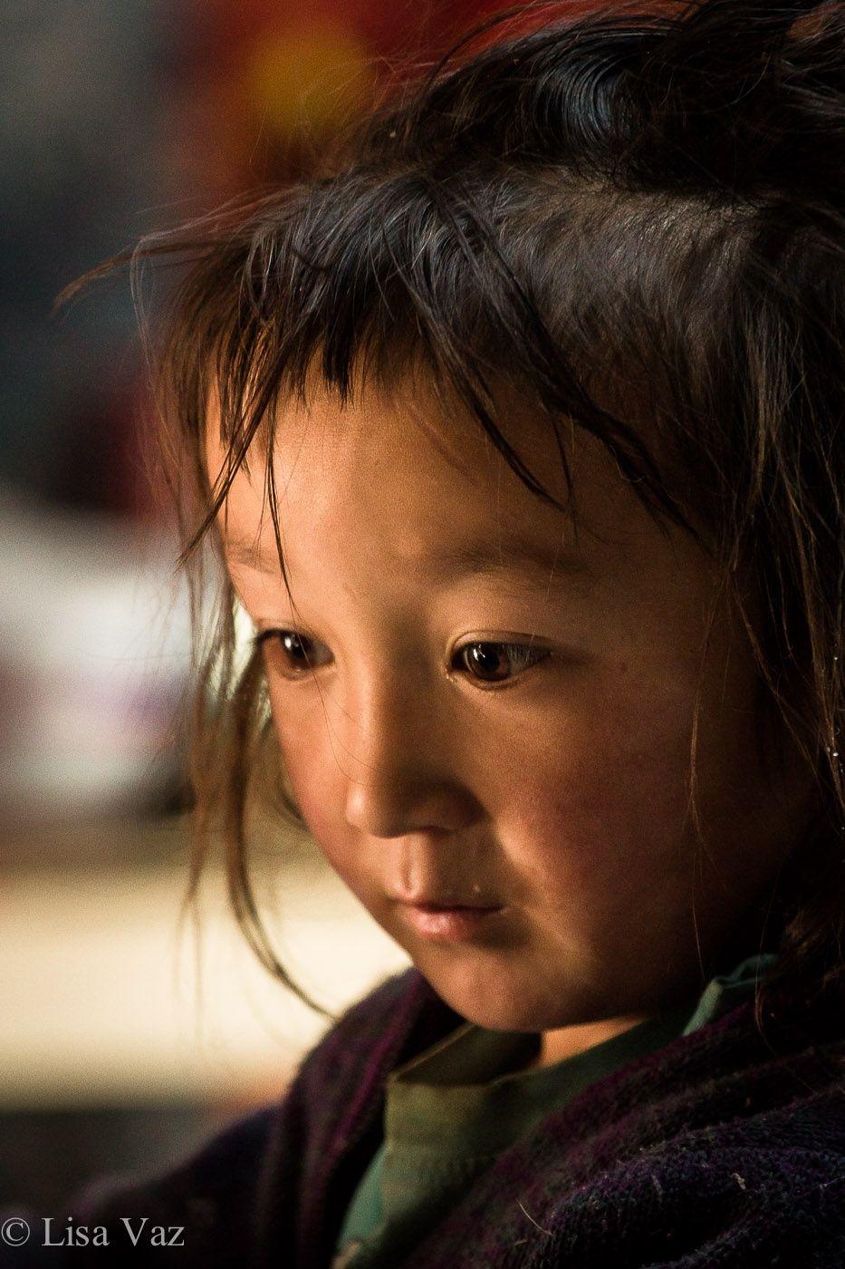 Kazakhstan Beautiful Children Face Portrait