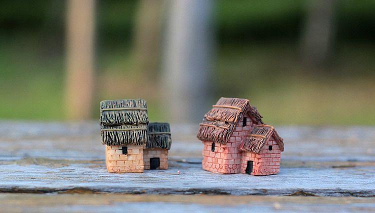 wholesale~10Pcs/ miniatures house 2 rooms/shabby/cute/fairy garden/doll house/terrarium/gnome/figurine/home desktop decor/diy