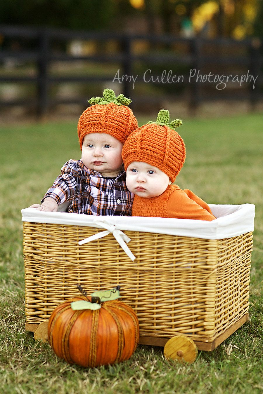 Baby Hat Pumpkin Hats - Twin Pumpkin Hats - Twin Set Halloween ...