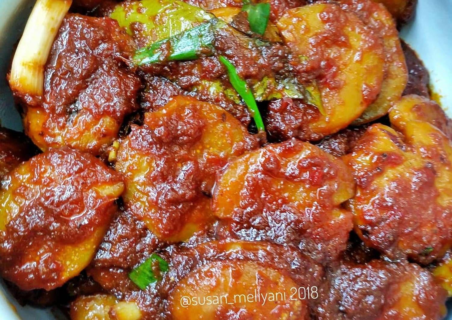 Semur Jengkol Pedas Manis Foto Resep Utama Indonesian Food Dan Pork Pork Roulade