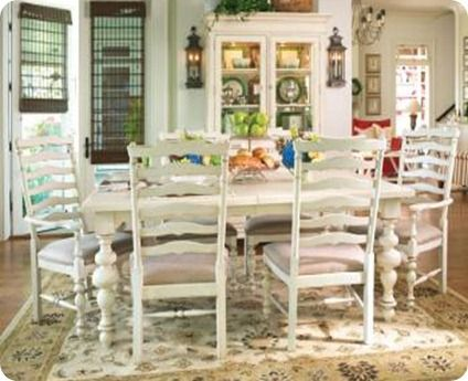 White Dining Room Tables  Paula Deen Home Paula's Rectangular Best White Dining Room Table Set Inspiration Design