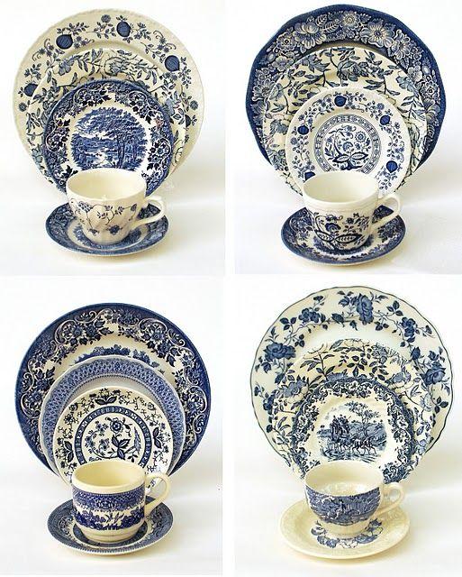blue u0026 white dishes- such a nice display idea!  sc 1 st  Pinterest & blue u0026 white dishes- such a nice display idea!   Tea Thoughts ...