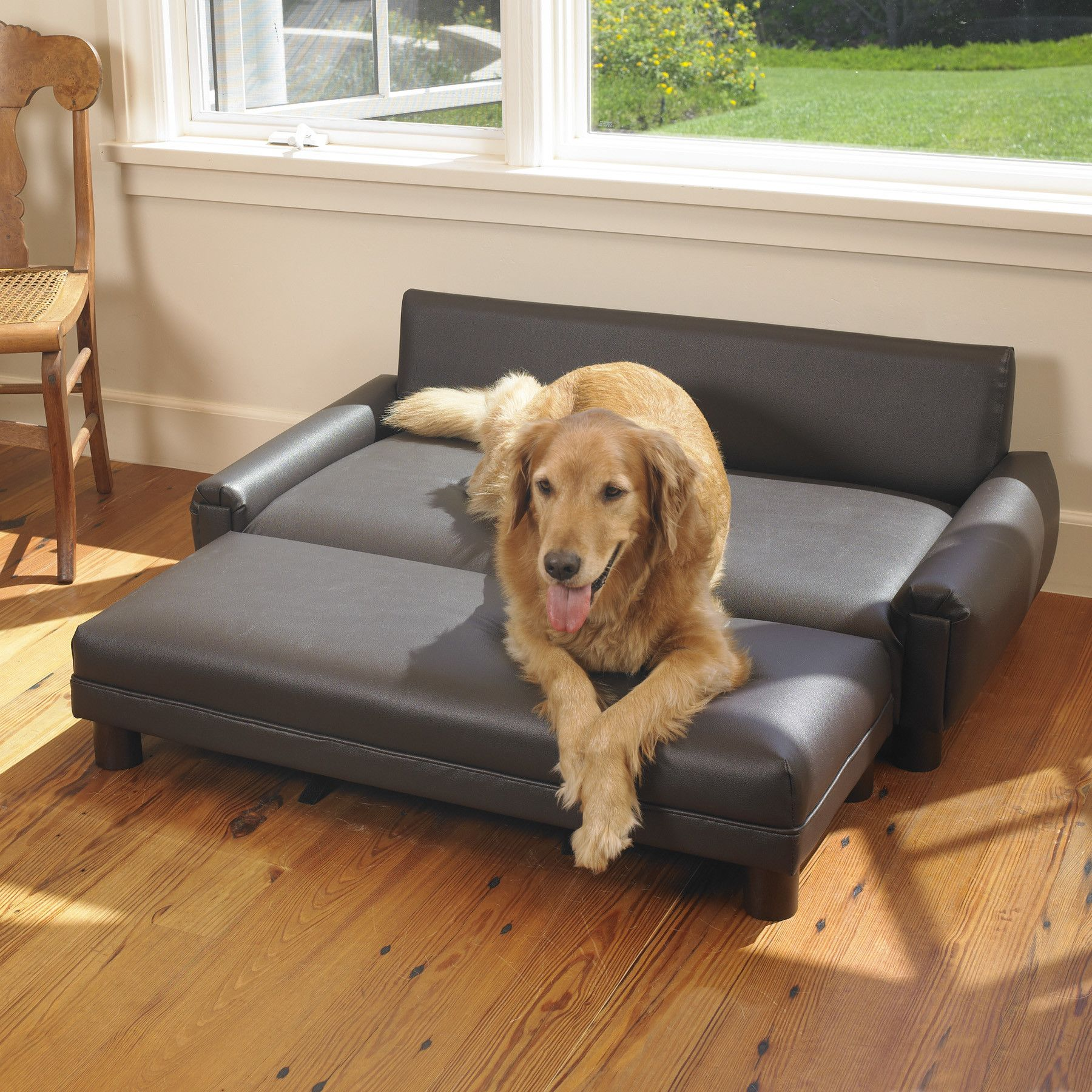 Surprising Living Room Black Faux Leather Sofa Bed For Large Pets Machost Co Dining Chair Design Ideas Machostcouk