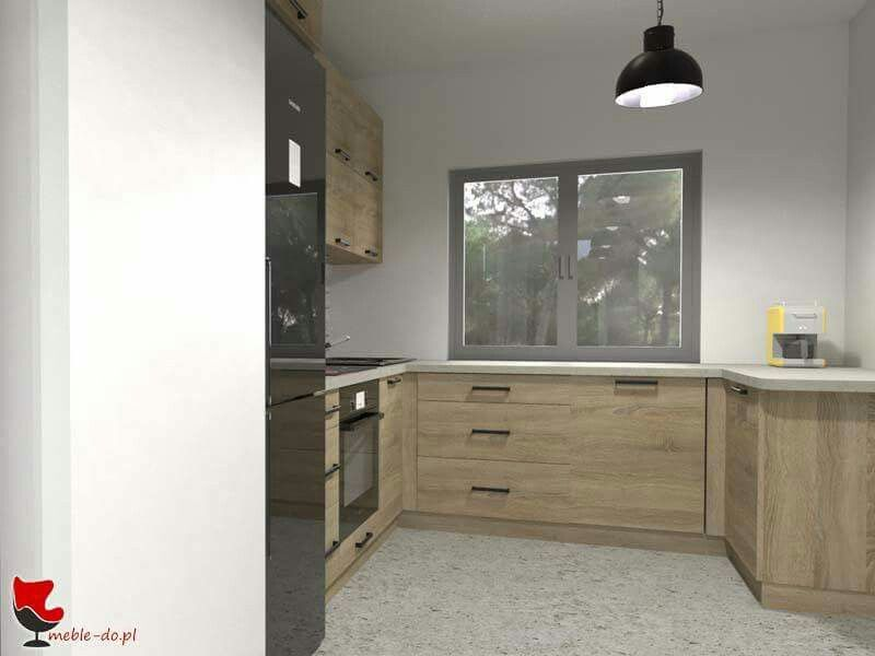 Kuchnia W Zabudowie Z Blatem Pod Oknem Home Decor Light Oak Furniture
