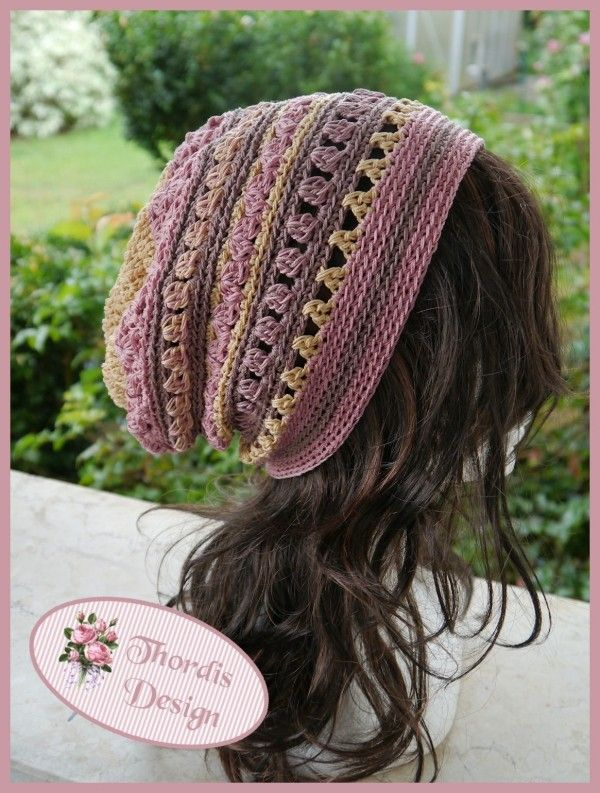 Ebook Long Beanie Crochet Pattern INDIAN DREAMS | Knitting and ...