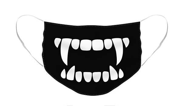 Face Mask Featuring The Digital Art Vampire Teeth By Nicole Wilson Molde