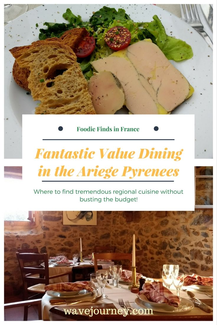 Is the quality and value of dining something you consider when deciding your next destination or trip? For us it is. It may not be the most important factor in the decision making, but it is definitely one of our top three. On a week-long visit to the Ariege Pyrenees in France, we discovered that this lesser-known area offers tremendous dining value for visitors – especially foodies.  #TBIN #foodie #france