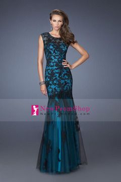 2014 Glorious sweeetheart Mermaid tulle lace appliqued prom dresses floor length