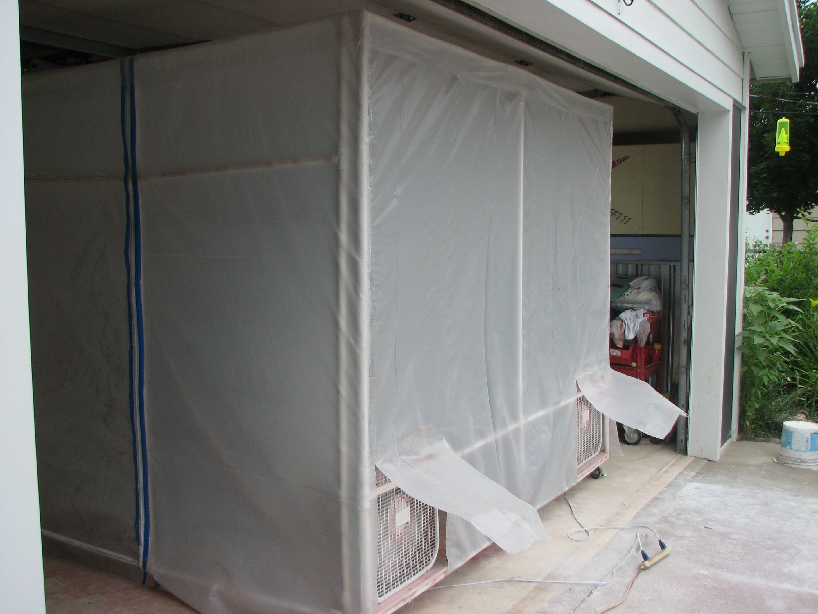 Portable Paint Booth >> Portable Paint Booth Pvc Pipe Clear Plastic 9 Furnace Filters 2