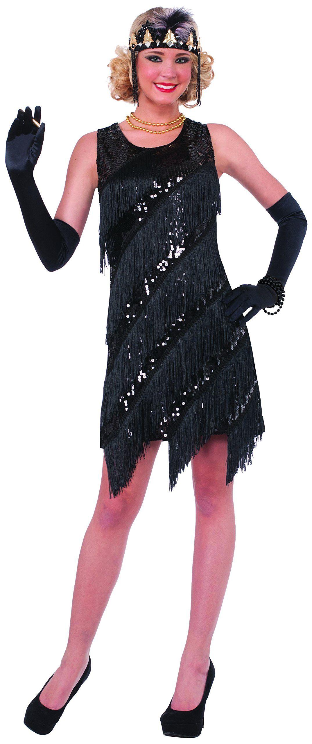 c7a8de2490 Forum Novelties Women s Midnight Dazzle Flapper Costume Dress