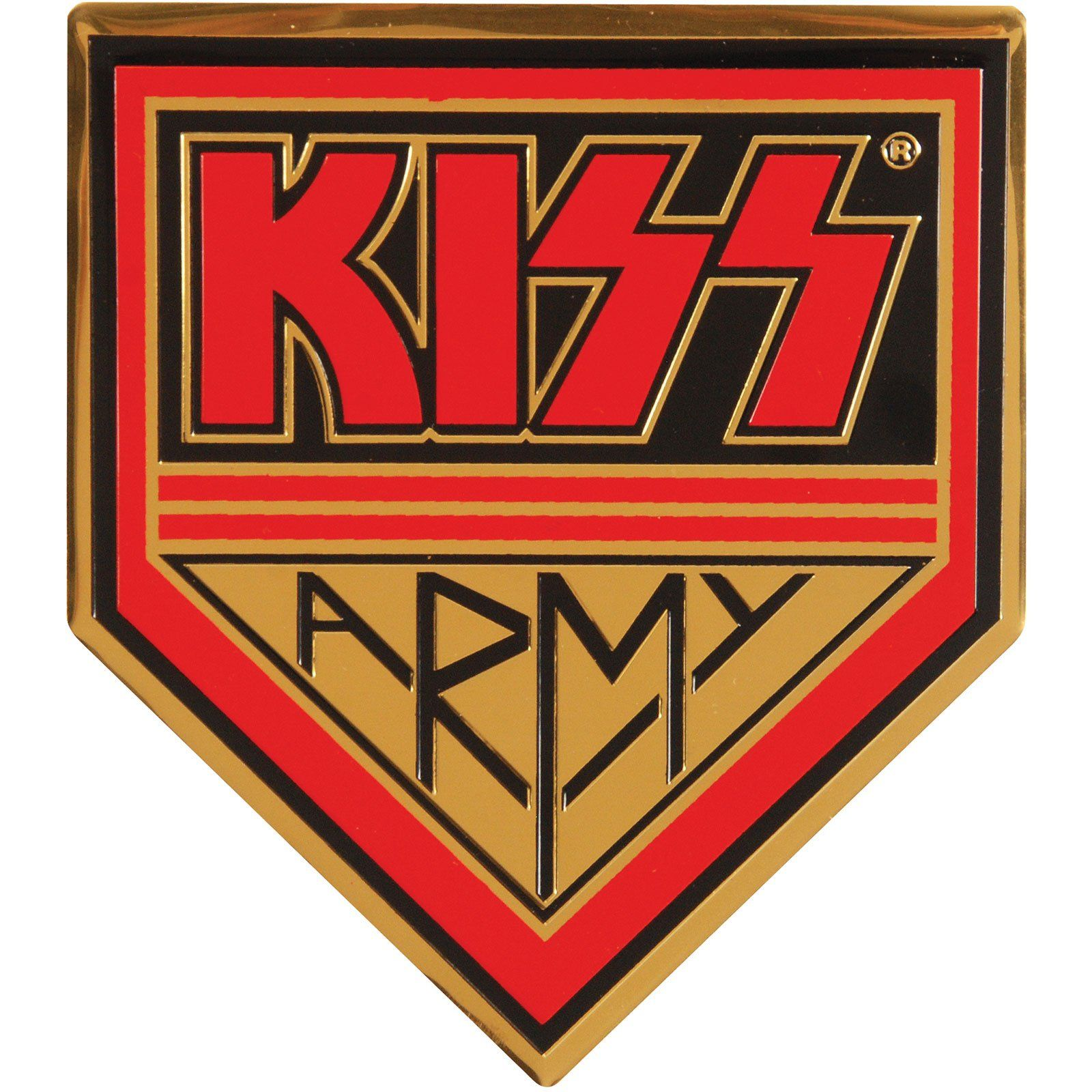 Army On Gold Sticker In 2021 Army Patches Kiss Army Army Badge