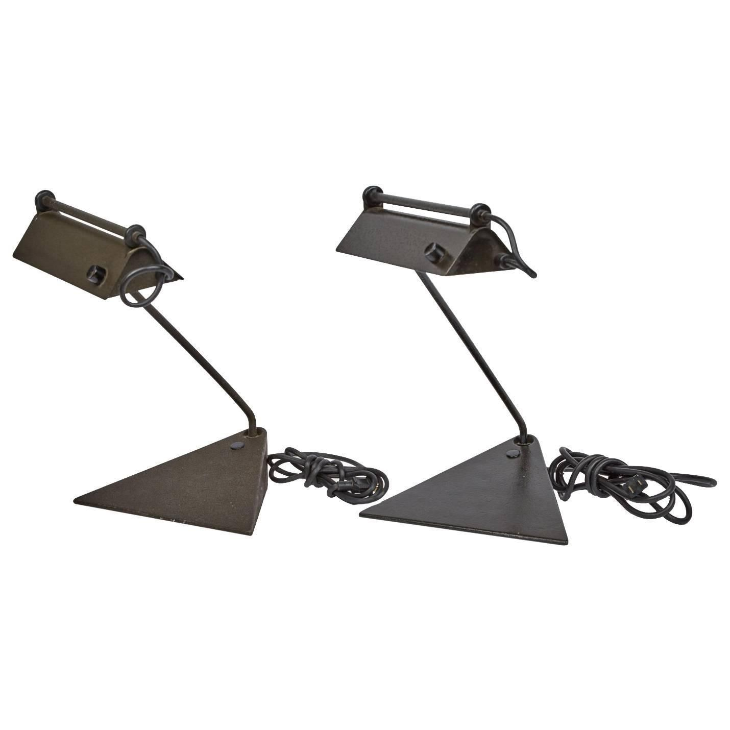 Koch & Lowy Adjustable Pair of Desk Lamps, circa 1960