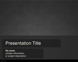 free dark metallic powerpoint template background abstract