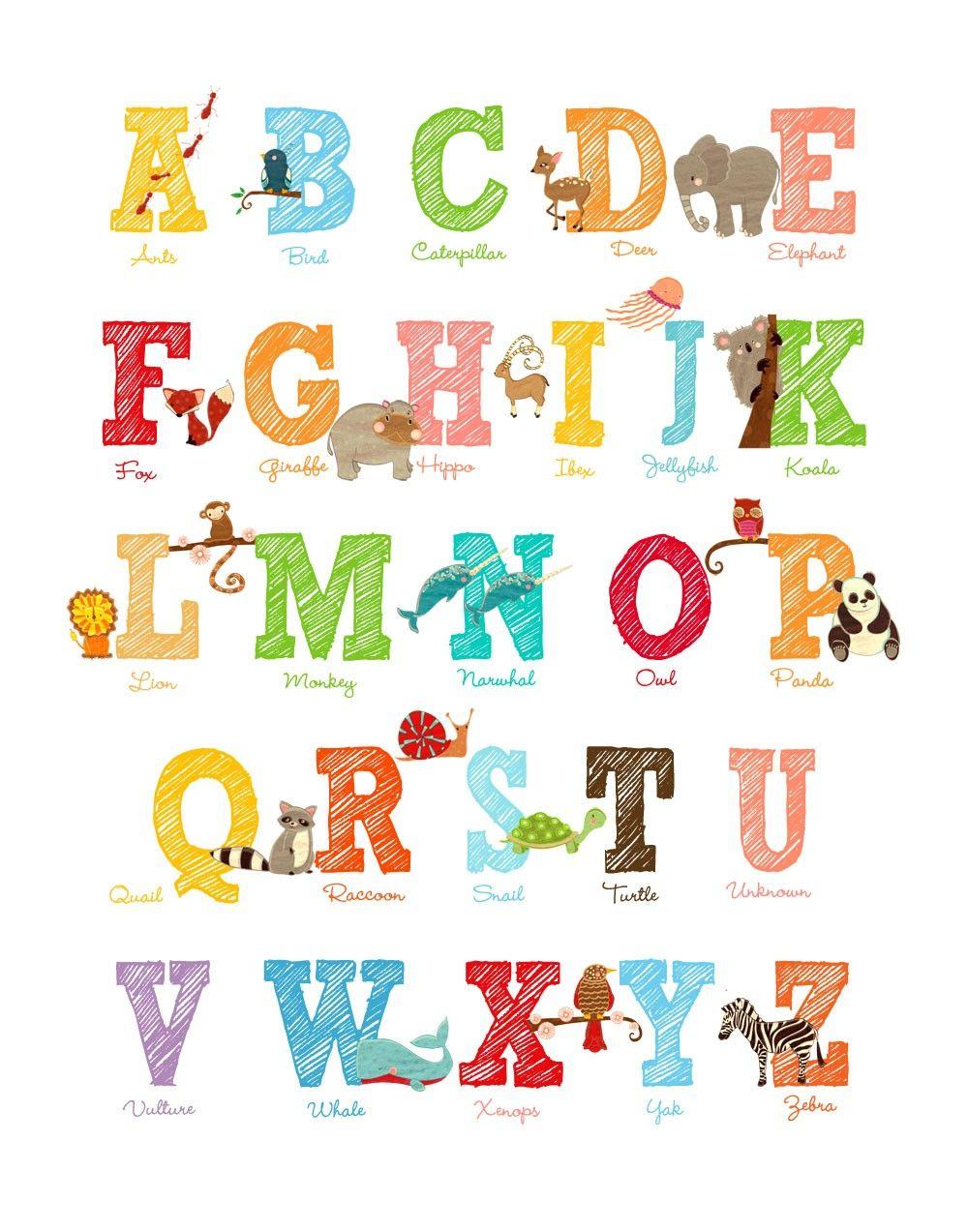 Large Abc Letters Black White: Large Size Alphabet Letter