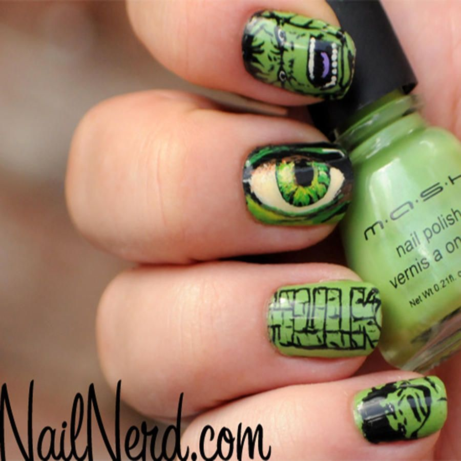 27 Powerful Nail Designs for Any Comic Nerd | Bruce banner ...