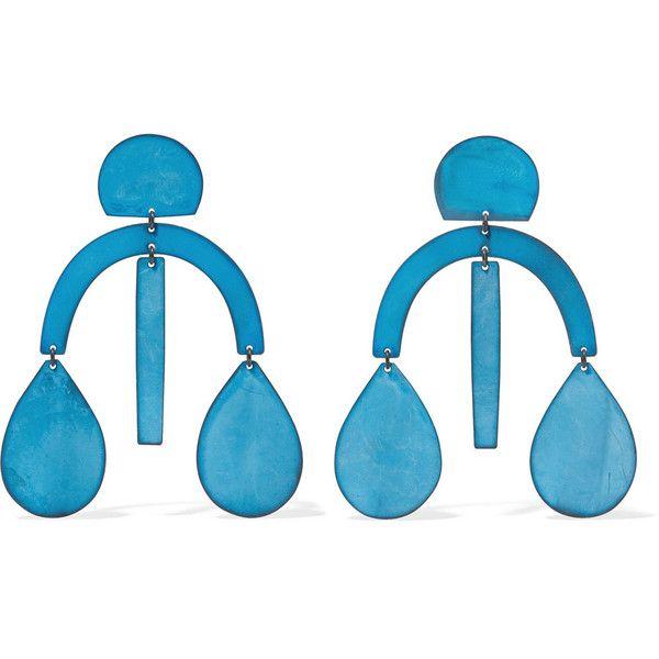 Annie Costello Brown Matisse Oxidized Earrings - Blue geWY2Gw3OC