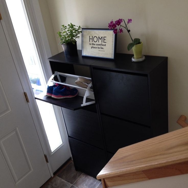 Split Level Entry Way Storage Solutions Small Entryway With Ikea Bissa Shoe Cabinets