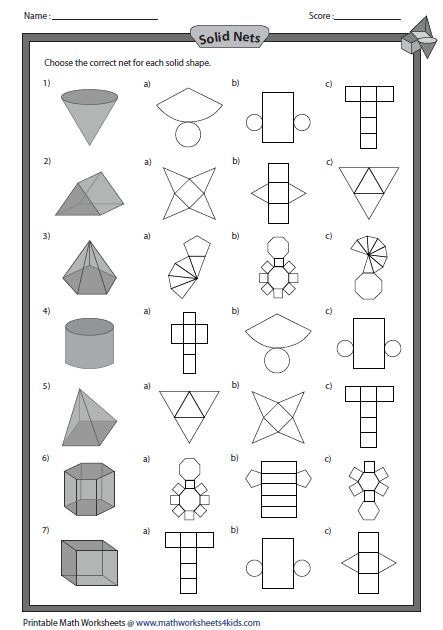 Solid Net And Shapes Geometry Pinterest Math 3d Shapes And