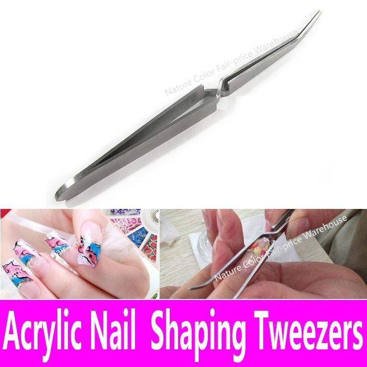 Acrylic Nail Shaping Tweezers Stainless Steel Multi-Function Nail ...