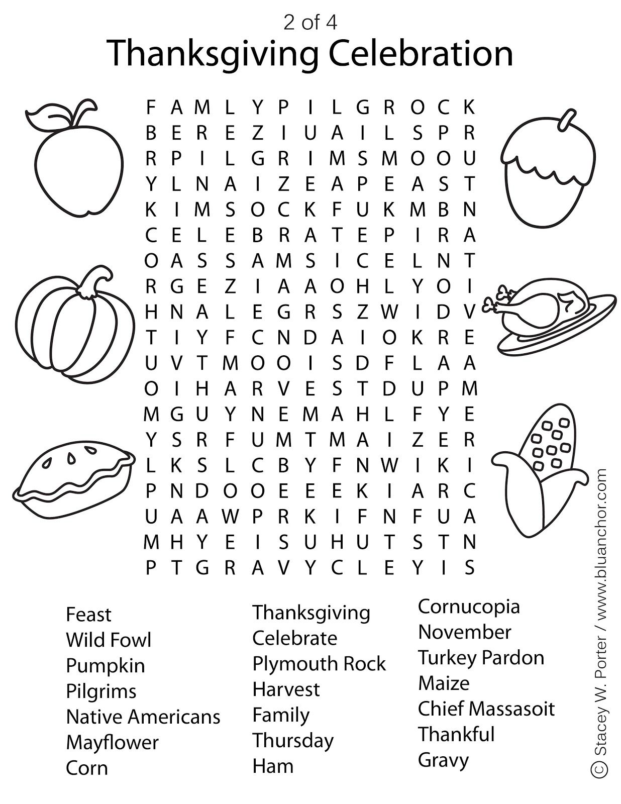 Free Thanksgiving Printables Puzzles