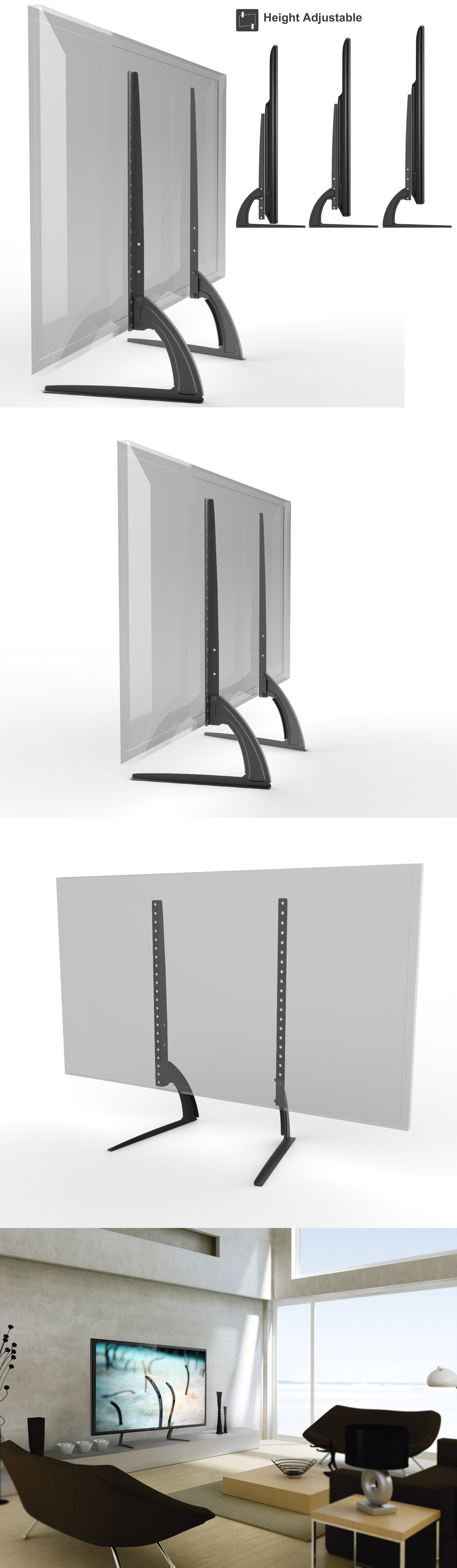 TV Mounts and Brackets Hta327 Universal Table Top Tv Stand Legs For