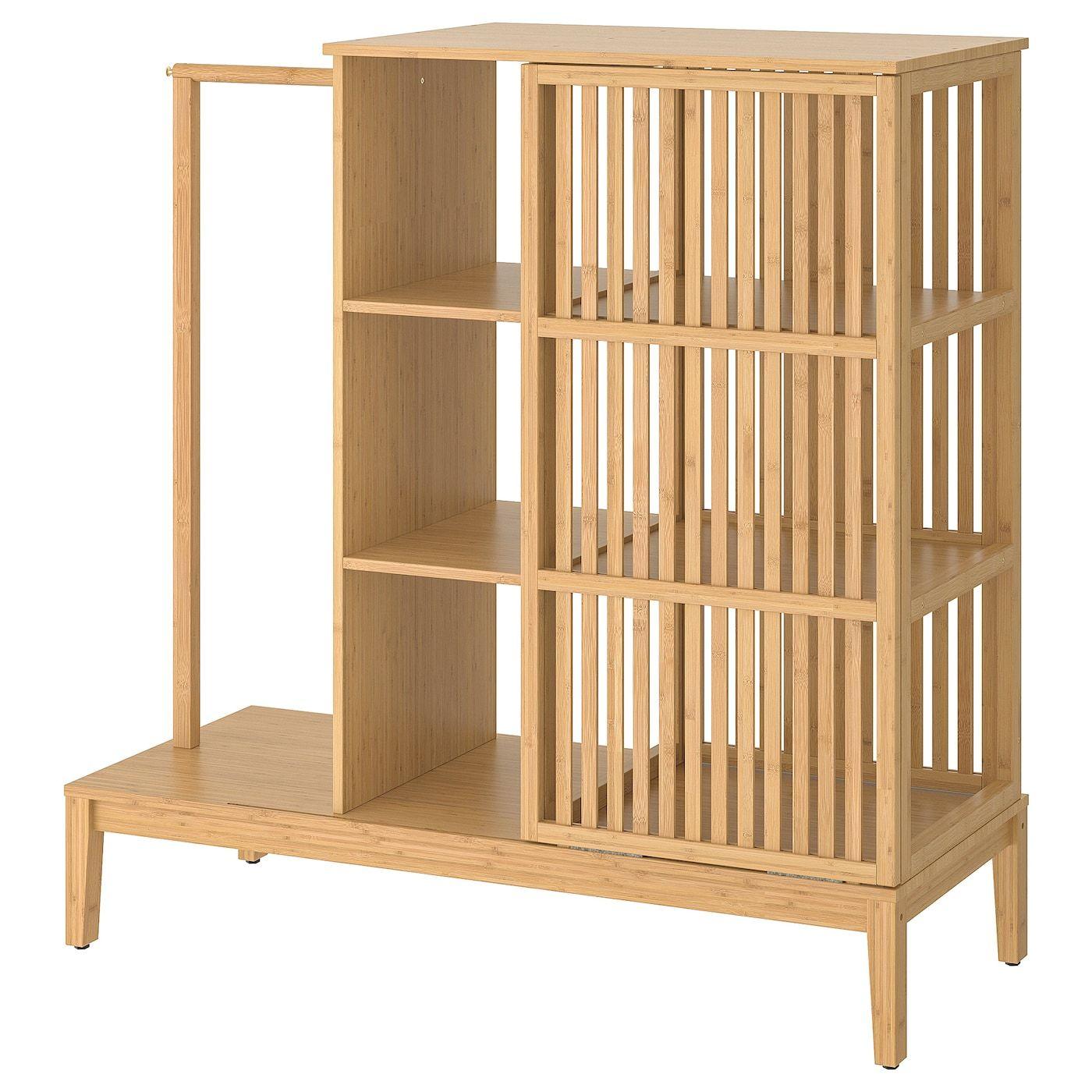 Nordkisa Kleiderschrank Offen Schiebetur Bambus Ikea Deutschland Schiebeturen Schrank Offene Garderobe Kleiderschrank Schiebeturen
