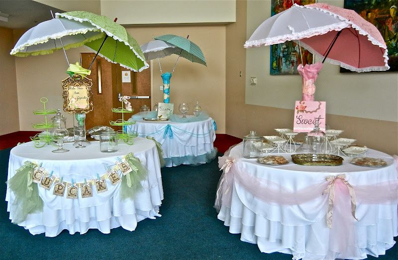 Parasols Centerpieces Layers Celebration Creations Baby Shower