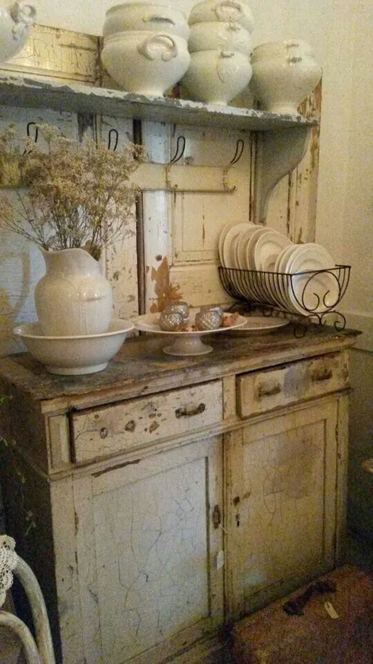 French Kitchen Vintage And Painted Furniture Old Shabby Dresser The Room Home Decor