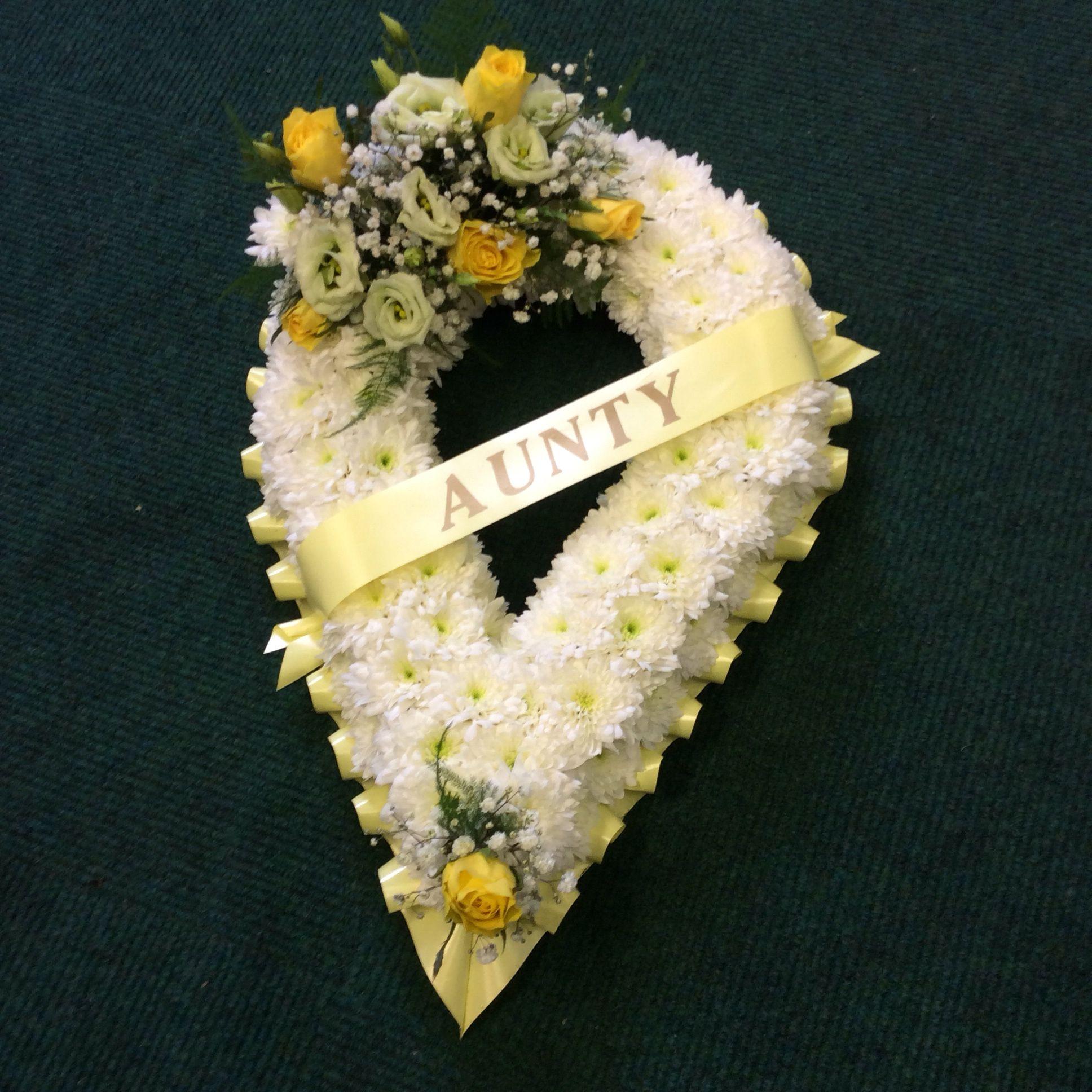 Teardrop Funeral Flowers By Jaks Flowering Fancies High Street