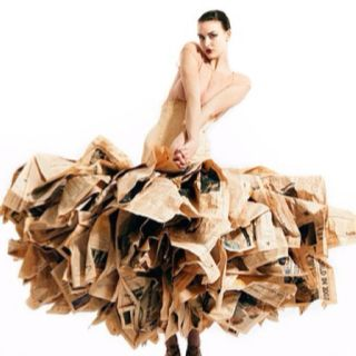 A dress made out of newspaper now that's ART!