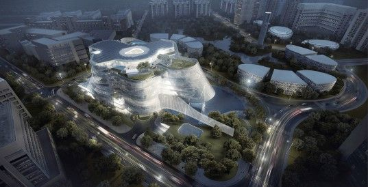 Solar-powered Xinhee Design Center is inspired by human skin and bones | Inhabitat - Green Design, Innovation, Architecture, Green Building