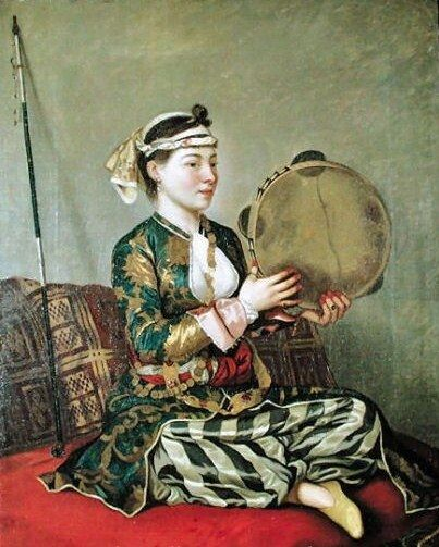 LIOTARD Jean-Etienne -Swiss-French (1702-1789) -  Turkish Women with Tambourine