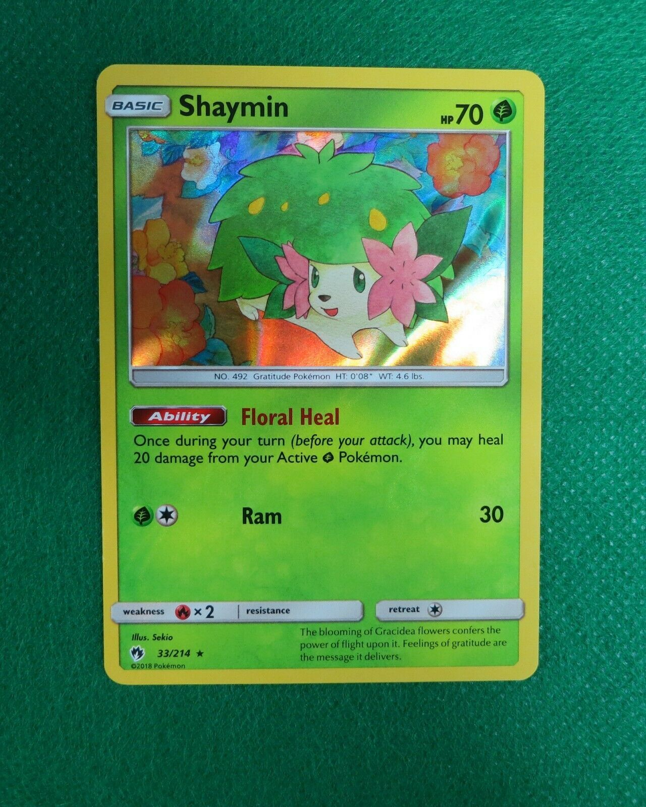 33//214 Pokemon Shaymin SM Lost Thunder Holo