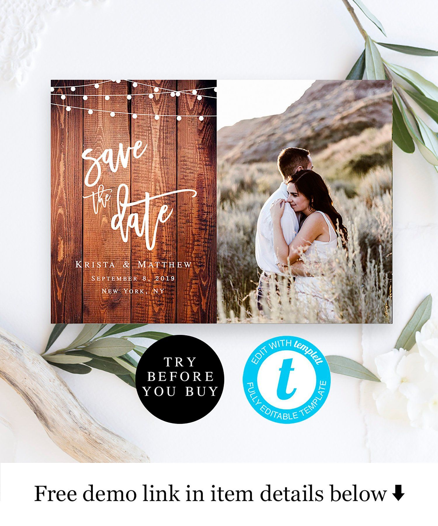Save The Date Photo Template Wood Background Save The Date Etsy Save The Date Templates Save The Date Photos Save The Date Invitations Save the date email template