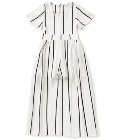 2479b7d92af0 Poppies and Roses Big Girls 7-16 Striped Maxi Romper | Hair/Clothes ...