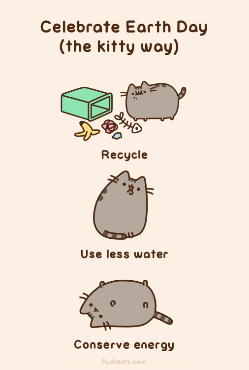 Celebrate Earth Day with Pusheen