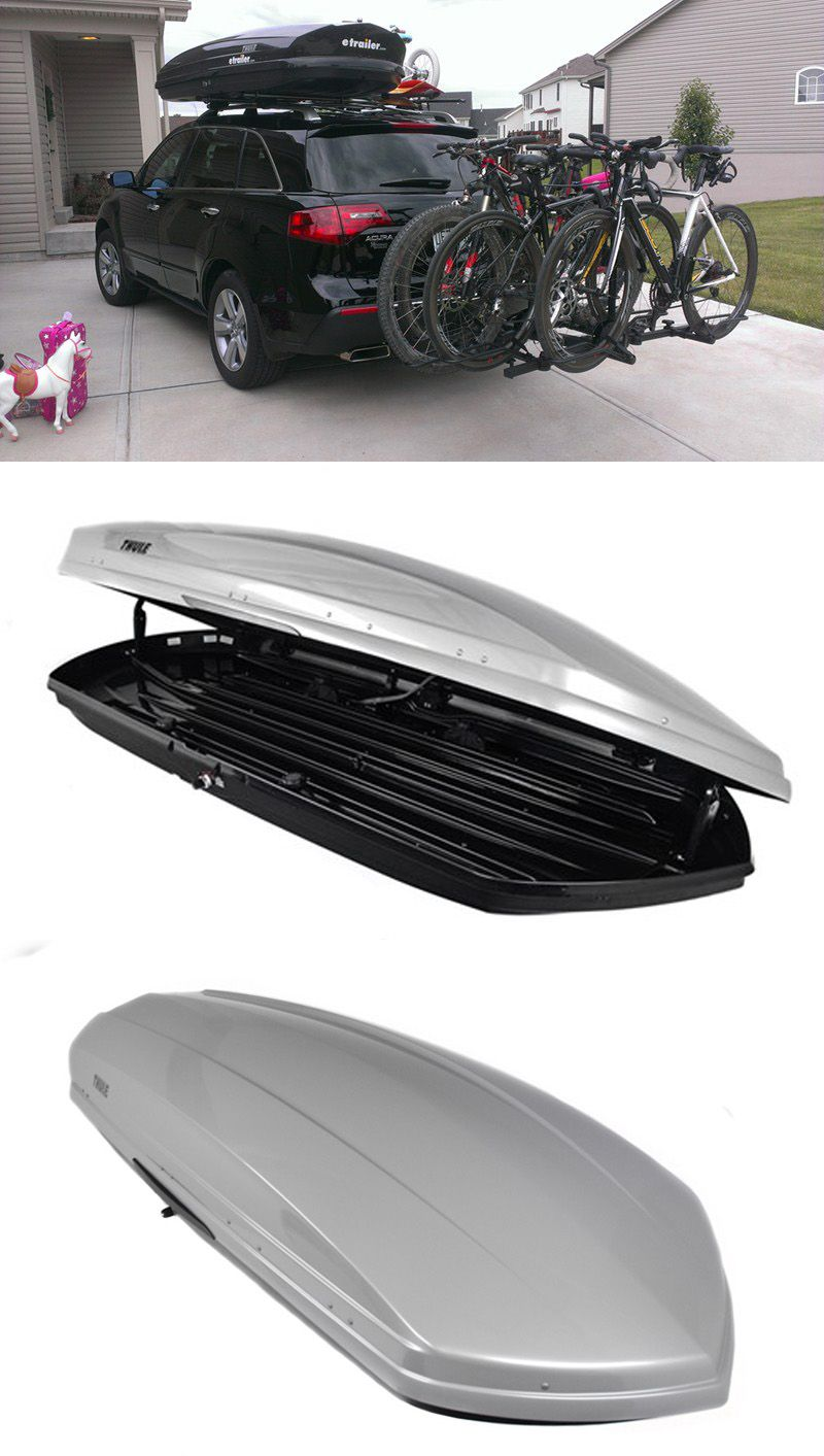 Ultra Aerodynamic And Low Profile Roof Mounted Cargo Box For The Minivan Store Your Hiking And Camping Gear For More Space On Road Roof Box Cargo Carrier Roof