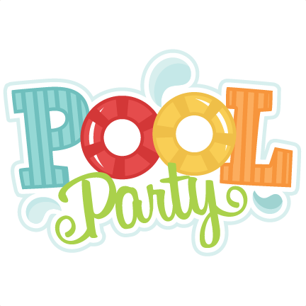 Image result for pool party clipart