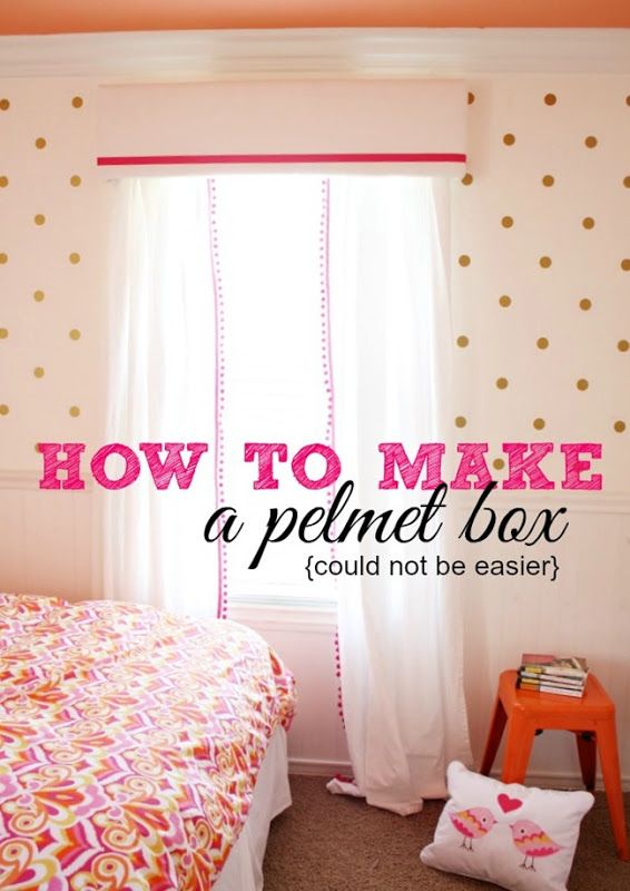 Add Pelmet Box With Fabric And Trim Wood